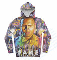Real USA Size Chris Brown Fame 3D Sublimation print Custom made hoody/hoodies plus size