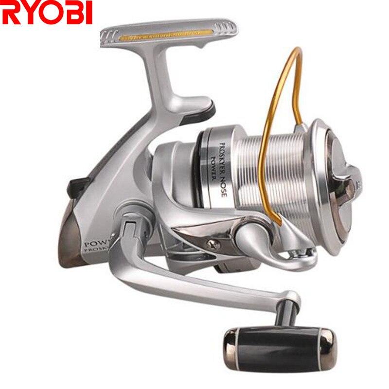 Ryobi moulinet à tambour PROSKYER NEZ 3.9: 1/4 + 1BB/12Kg Glisser Full Metal Longue Lointain Moulinet De pêche Carretilhas Moulinet en De Peche Pesca