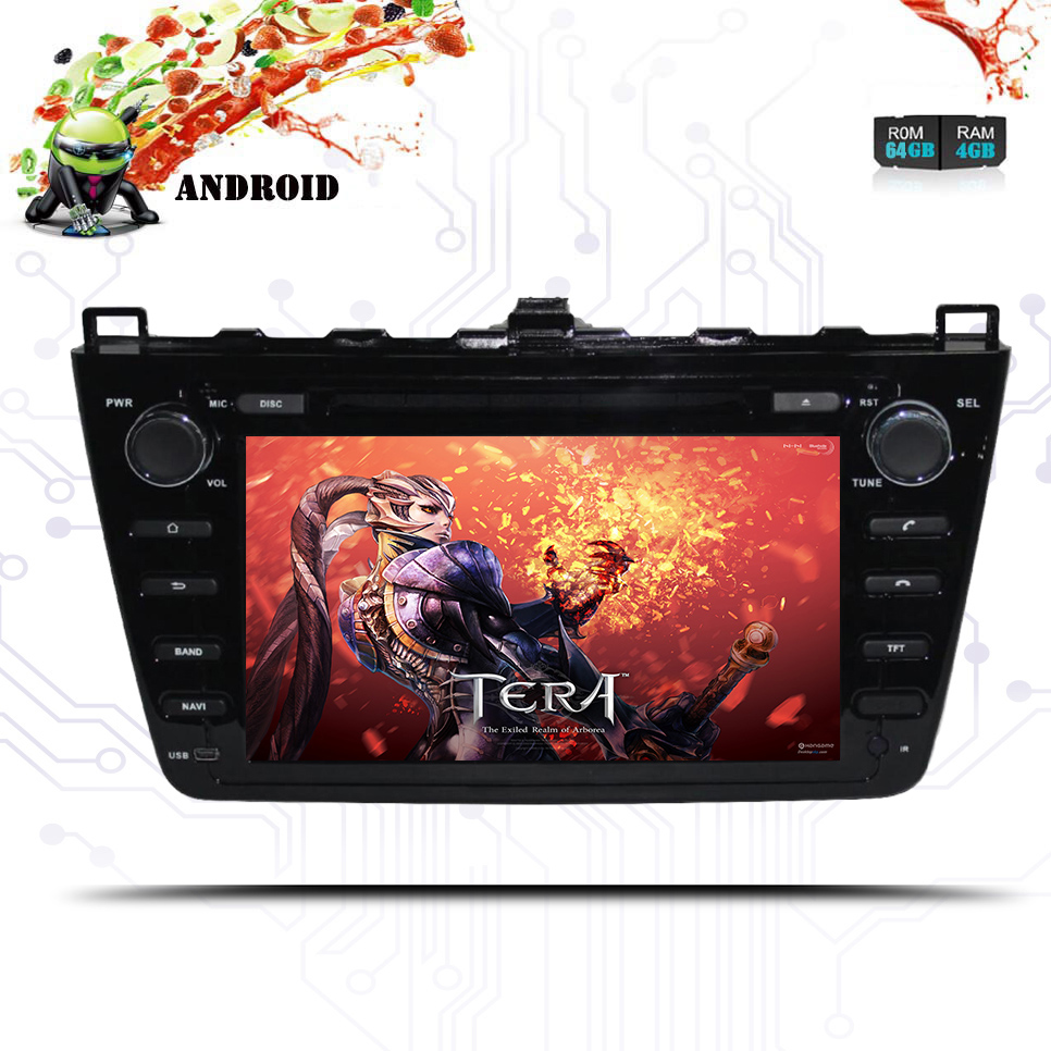Android 9.0 64+4GB Car DVD player GPS navigation Deckless radio For Mazda 6 Atenza 2008-2012 Satnav multimedia tape radio Audio
