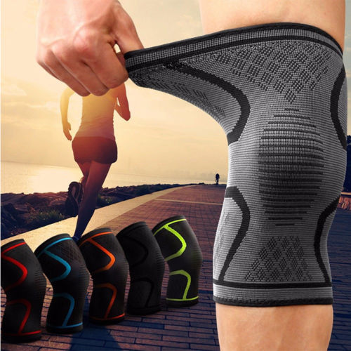 2017 Newest Sports Knee Support Breathable Sleeve Compression Knee Brace For Running Jogging Sport Protect Wear Elastic Hot Sell