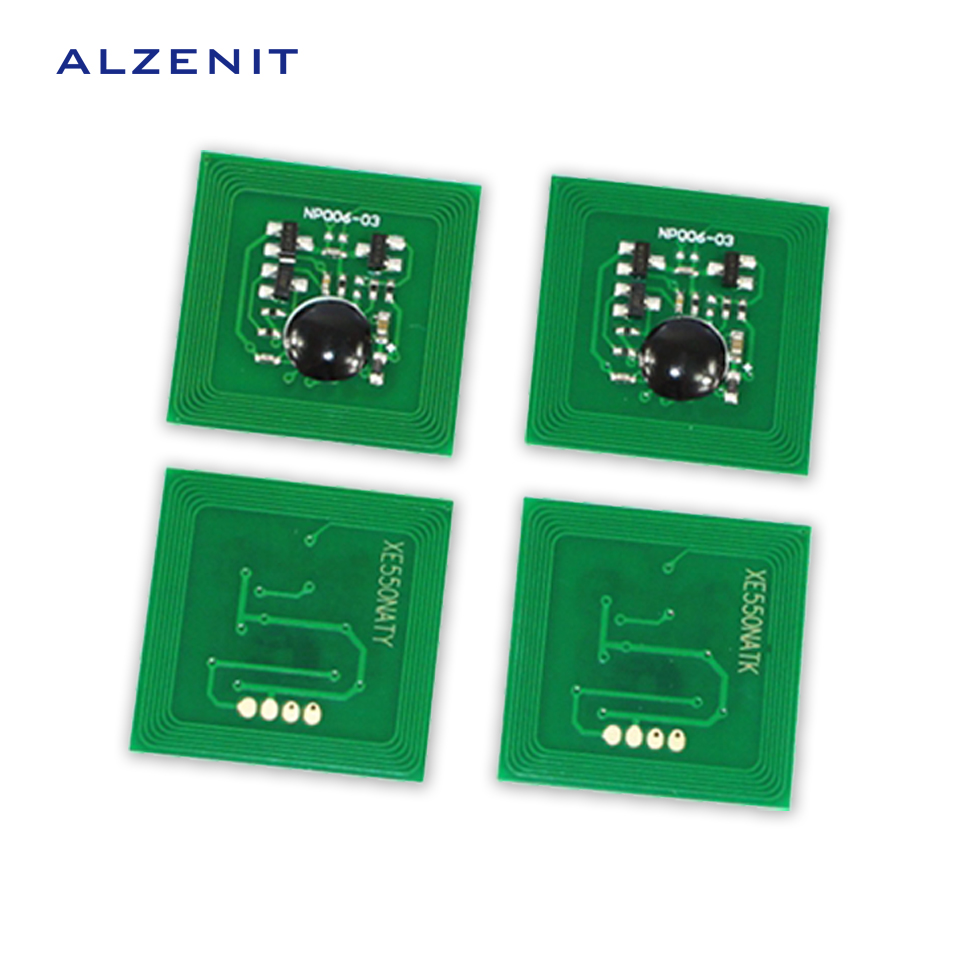 4Pcs ALZENIT For Xerox C550 C560 C570 OEM New Drum Count Chip Four Color Printer Parts On Sale cs dx18 universal chip resetter for samsung for xerox for sharp toner cartridge chip and drum chip no software limitation