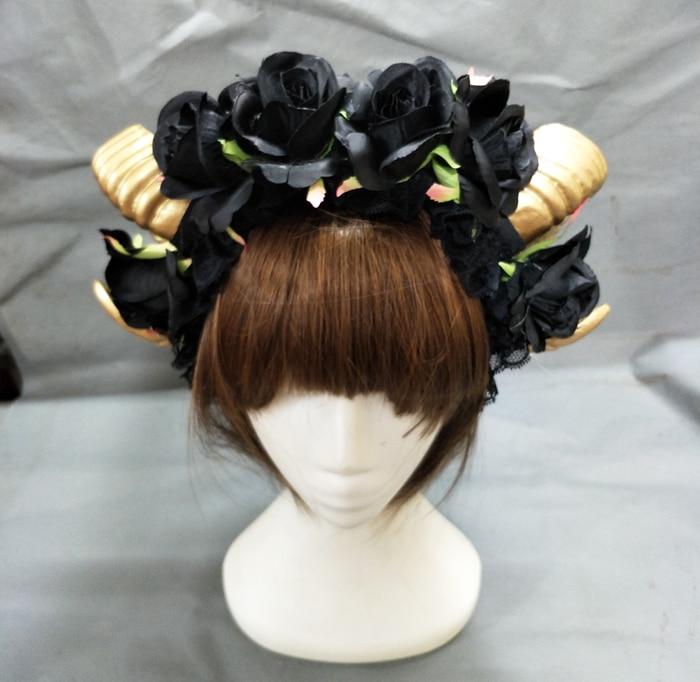 Ram Horns Headband Cosplay Fantasy Fancy Dress Sheep Goat Animal