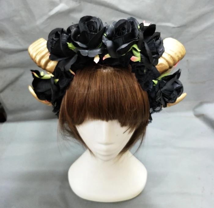 Ram Horns Headband Cosplay Nativity Christmas Fancy Dress Sheep Goat Animal Ears
