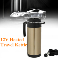 Cup Based Heating 1200ml 12V Stainless Steel For Truck Use Electric Cup Car Kettle Kettle Travel Thermoses Coffee Heated Kettle