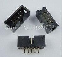 100pcs IDC Box Header DC3 DC3 10P 2x5 10 Pins 10P 2 54mm Pitch