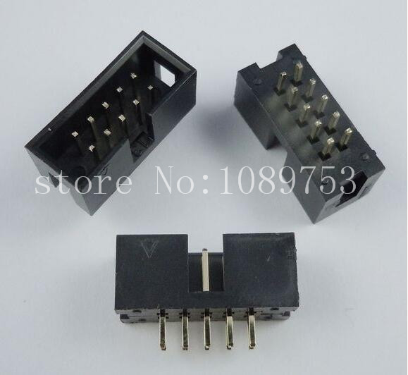 100pcs IDC Box header DC3 DC3-10P 2x5 10 pins 10P 2.54mm Pitch 2 54mm pitch idc box header dc3 16p dual row 16 pins jtag connector 50pcs