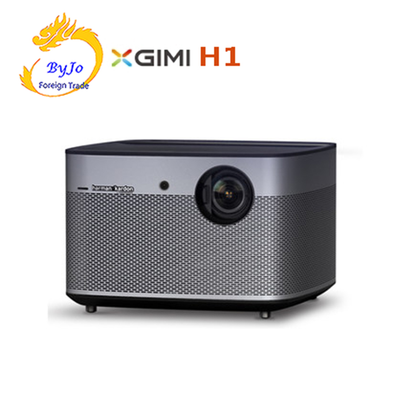 лучшая цена 100% Original XGIMI H1 DLP Projector 1080P Full HD 3D Support 4K 900 ANSI Projector Android Bluetooth Home Theater