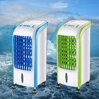 Air Conditioning Fan Cooling Machine Ice Crystal Small Air Conditioner Mute Household Removable Portable Fan With