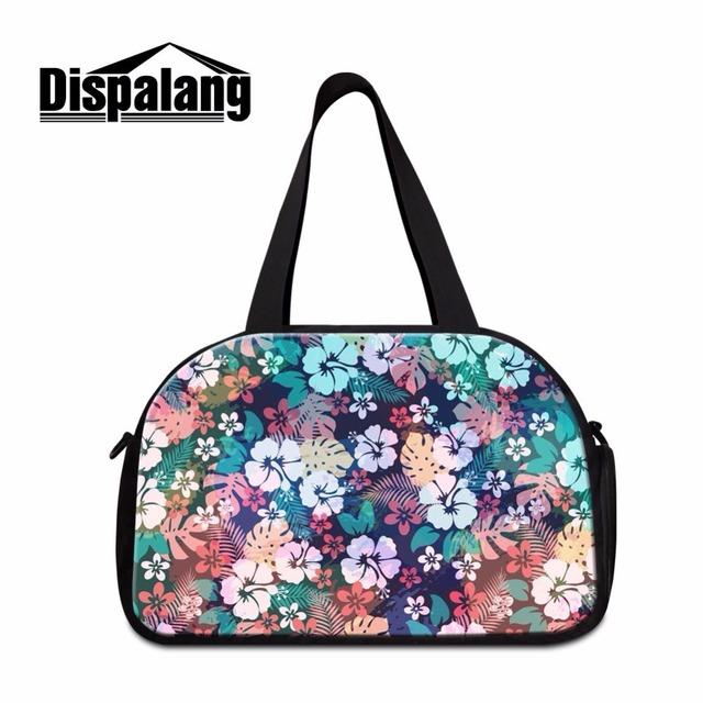 Dispalang projeto original outono flor floral impressão mulheres mochila de viagem saco de viagem totes ombro duffle bag com a unidade de sapatos
