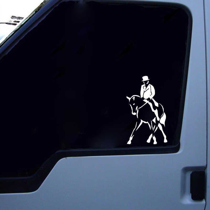 QYPF 9.6*16.1 CM Havalı Atlı Spor Dekor Araba Styling Sticker Aksesuarları Siyah/Gümüş C16-0954