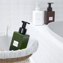 1pcs 450ml square foam blister bottle press bottle PETG bottle facial cleanser bottling hand sanitizer bottle BQ017