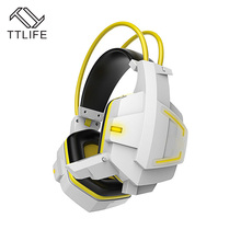 TTLIFE Deep Bass Juego Rodeado Over-Ear Auriculares Estéreo Gaming Headset Diadema Auricular con la Luz para Pc Gamer