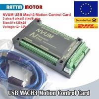 CNC Controller 3 4 5 6 Axis NVUM 200KHZ MACH3 USB Motion Control Card for Stepper Motor Servo motor