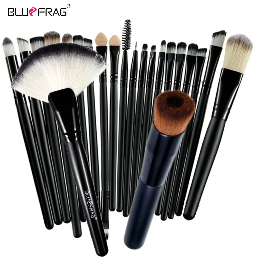 BLUEFRAG Pro 22 Makeup Brushes Set Comestic Powder Foundation Blush Eyeshadow Eyeliner Lip Beauty Make up Brush Tools Maquiagem lades 9pcs pink makeup brushes set comestic powder foundation blush eyeshadow eyeliner lip beauty make up brush tools maquiagem