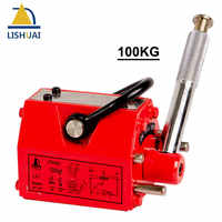 LISHUAI 100KG(220Lbs) Good Quality Permanent Magnetic Lifter/Permanent Lifting Magnet for Steel Plate with CE Certified