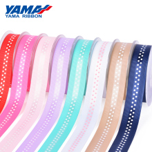 YAMA Grosgrain Edge Satin Dot Print Ribbon 25mm 100yards and 1 inch for Diy Dress Handmade Party Wedding Ribbons Gifts Craft