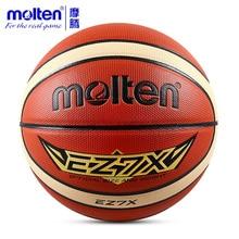 купить Original Molten Basketball Ball EZ7X/EZ6X/EZ5X Brand High Quality Genuine Molten PU Material Official Size7/Size 6/5 Basketball дешево