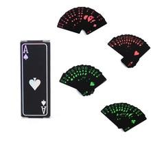 54Pcs/Deck Playing Cards Deck Foil Poker Set Magic Card Plastic Foil Durable Poker Waterproof Plastic PVC Playing Cards Set 30
