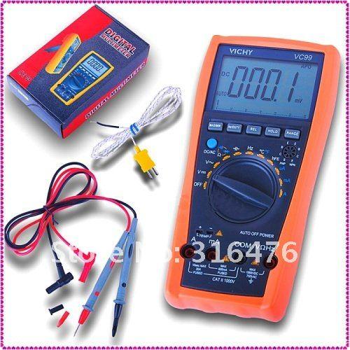 Vichy VC99 3 6/7 Multimeter analog bar C F better FLUKE 17B+
