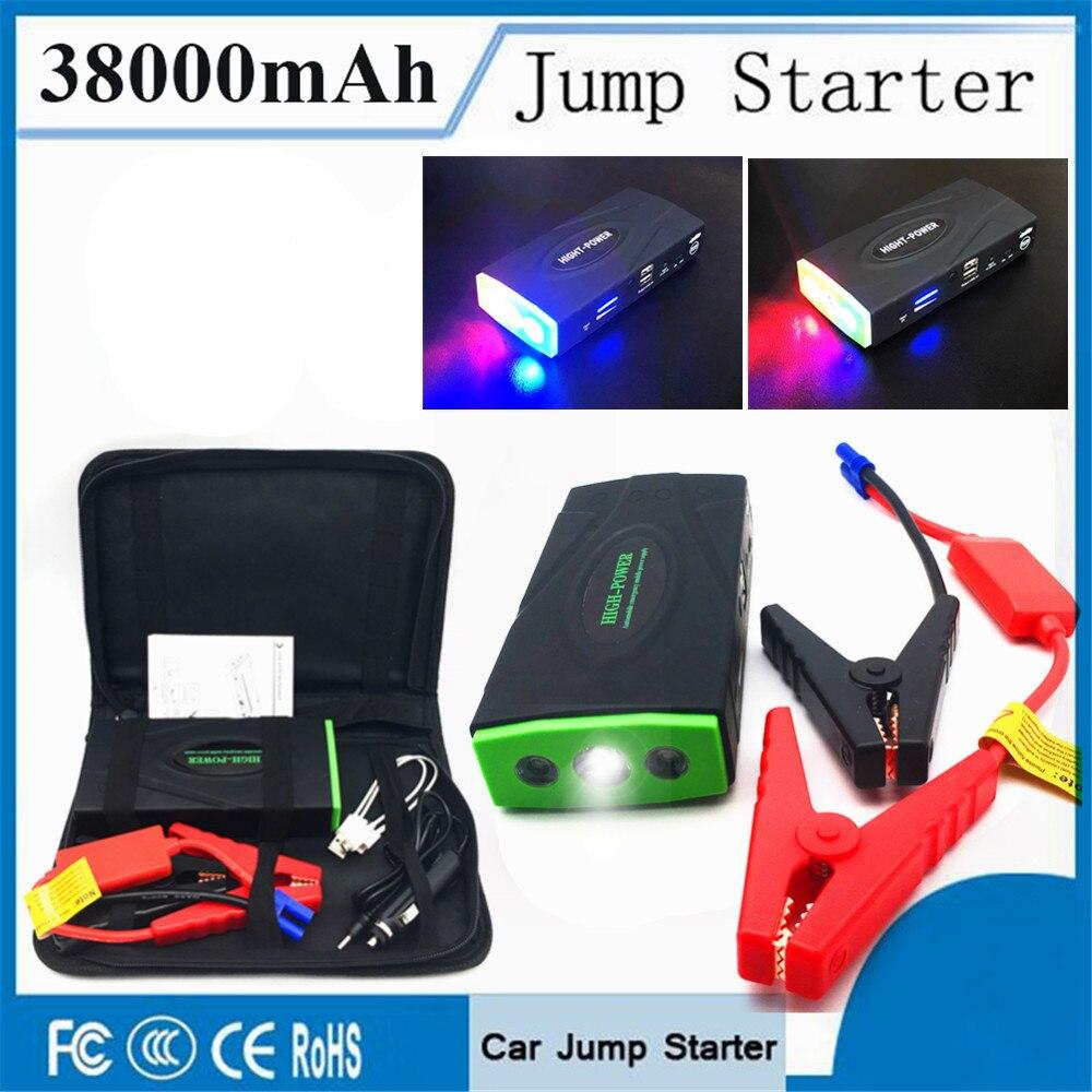 D'urgence 38000 mAh Dispositif de Démarrage 12 V 600A Portable Voiture Chargeur Pour Batterie De Voiture Booster Diesel Pettrol Auto Jumper Plus Léger LED