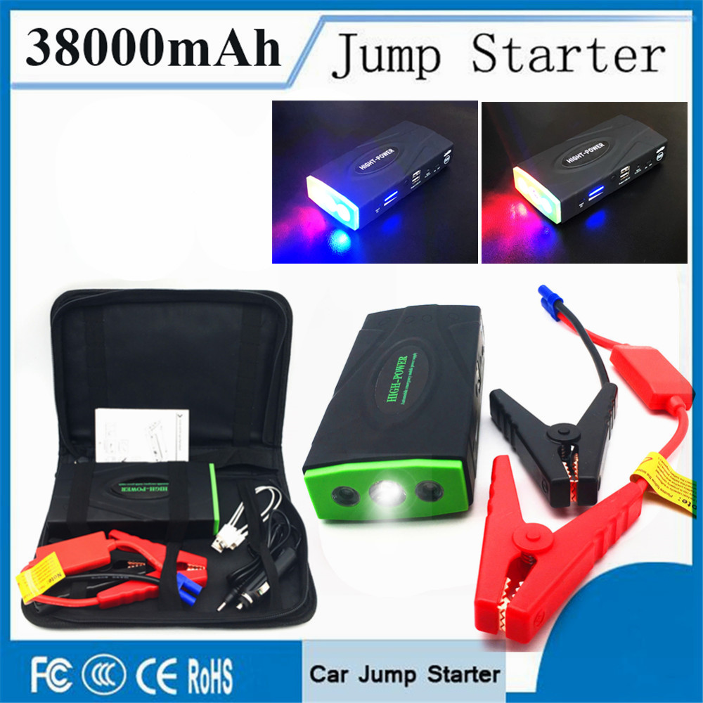 Emergency 38000mAh Starting Device 12V 600A Portable Car Charger For Car Battery Booster ...