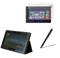 4in1 Luxury Magnetic Folio Stand Leather Case Cover 2x Screen Protector 1x Stylus For Asus VivoTab