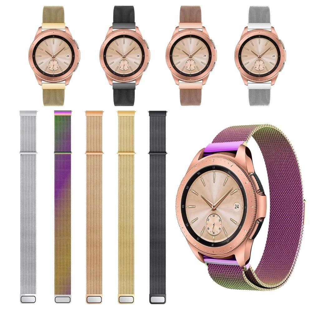 22MM20MM Für Samsung Galaxy 42/46mm & Getriebe Sport S2 S3 Frontier Klassische Band Für Huami Amazfit Edelstahl stahl Milanese Schleife Uhr