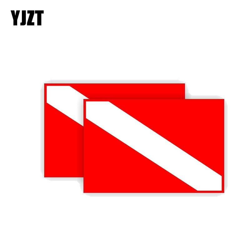 YJZT 2X 11CM*7.6CM Personality Scuba Diving Decal Gear Flag Stickers PVC  12-0417