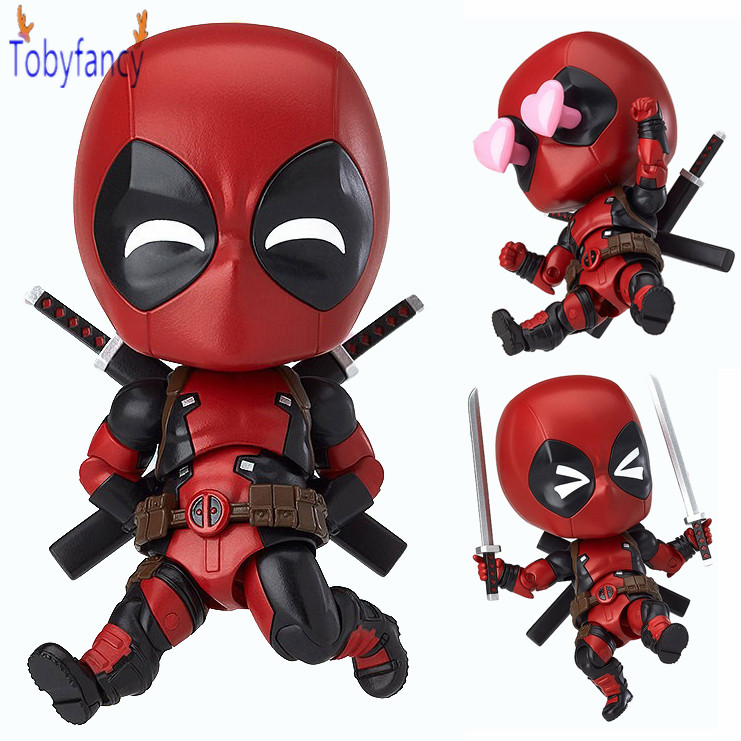 Deadpool Action Figure Nendoroid Wade Winston 100mm PVC Orechan Editio Anime Deadpool X-men Collectible Model Toy Superhero neca planet of the apes gorilla soldier pvc action figure collectible toy 8 20cm