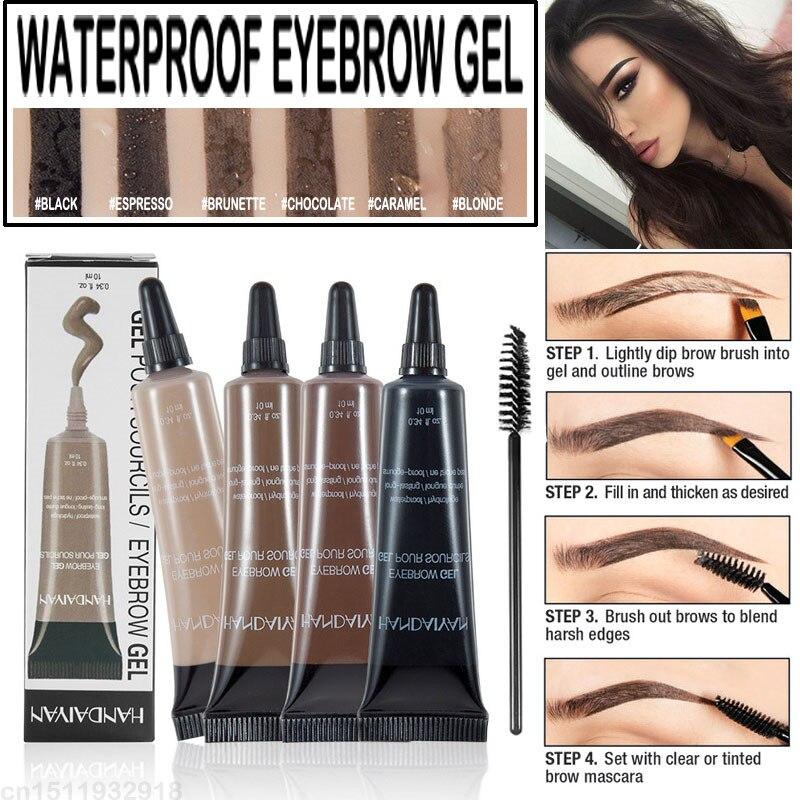Henna Tattoo For Eyebrows: HANDAIYAN Makeup 6 Colors Henna Eyebrow Gel Waterproof