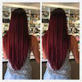 Cabelo Reto Malaio vermelho 99J # Borgonha Cabelo Virgem Malaio Reta Cabelo Virgem 4 Pacotes Em Linha Reta Feixes de Cabelo Humano Vermelho