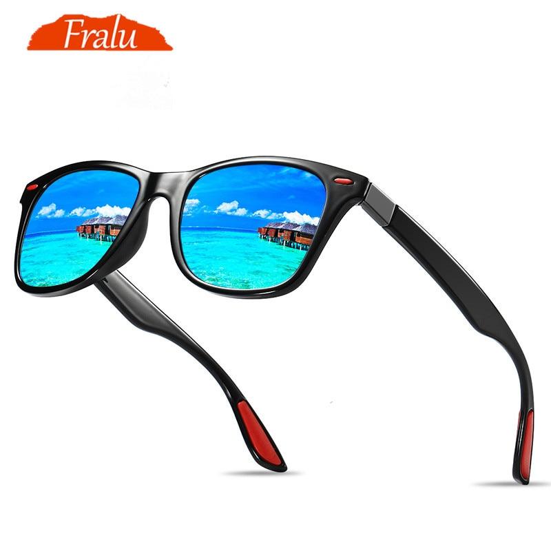 1c176dc84 FRALU Clássico DESIGN DA MARCA Óculos Polarizados Óculos de Sol Das  Mulheres Dos Homens de Condução óculos de Sol Quadrado Quadro óculos  Masculino Óculos de ...