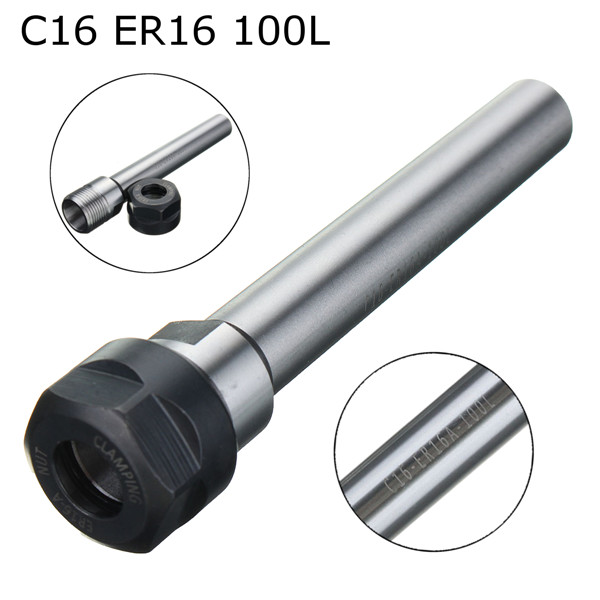 C16 ER16 100L Straight Shank Collet Chuck Holder Tool holder for CNC Milling Lathe Tool practical c10 er11a 100l collet chuck holder 100mm extension straight shank for cnc milling lathe for er11 collet with er11a nut