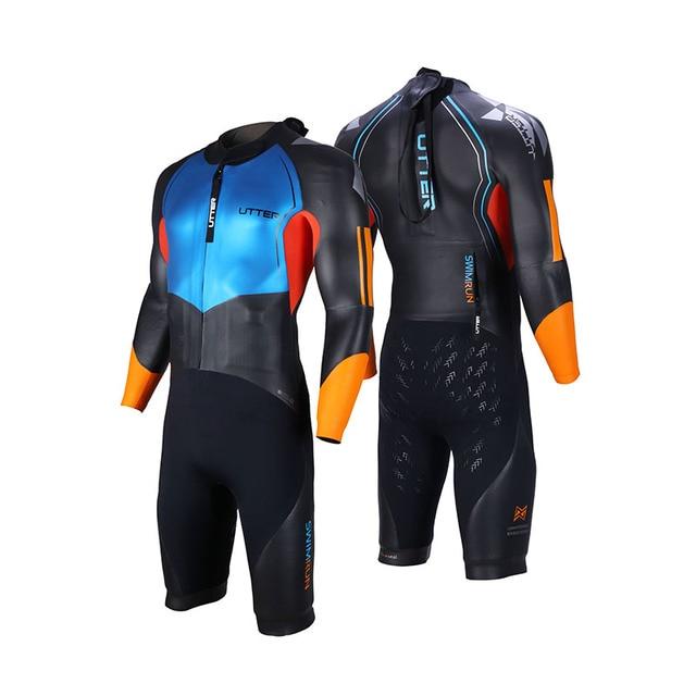 41899b01fa UTTER Men Swimrun Short Sleeve SCS Neoprene Triathlon Wetsuit for Swimsuit  Surfing Outdoor Watersports Sportwear