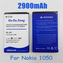 2900mAh BL-5C bl 5c Li-ion Phone Battery for Nokia C2-06 C2-00 X2-01 1100 6600 6230 5130 2310 3100 6030 3120 3650 6263(China)