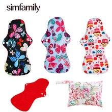 [Simfamily] 3+ 1 набор подушечек, в том числе 3 тяжелых подушечки потока+ 1 шт. мини влажный мешок, многоразовые и водонепроницаемые