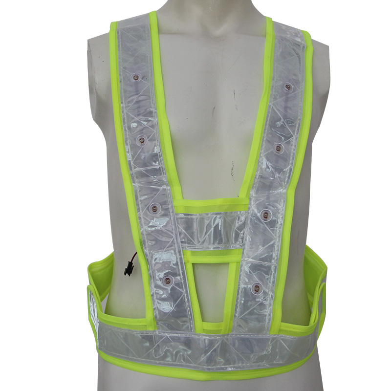 LED Lights Reflective Safety Vest High Visibility Breathable Reflective Tape Unisex Warning Protective Safety Clothing BX011a 5cm 45 high visibility reflective tape white and red reflective warning tape directly paste for van car warning posted