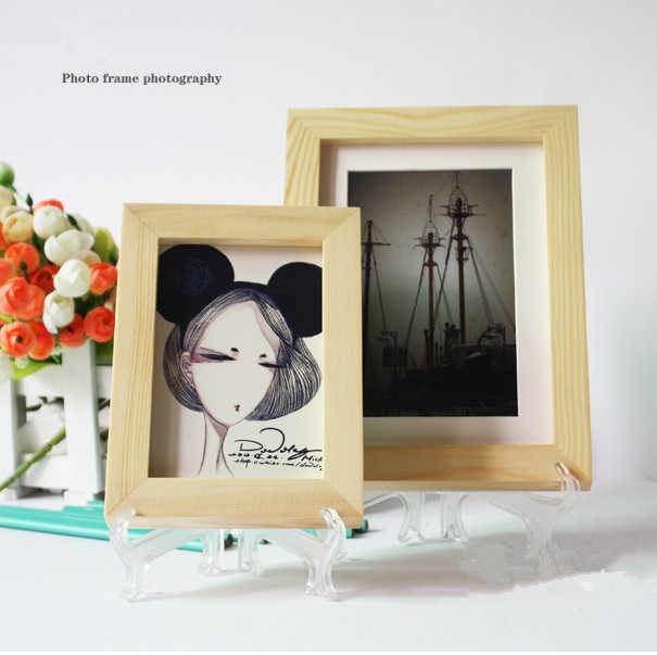 1PC Clear Transparent 3 5 7 9inches Photo Frame support Display Easel Stand Bowl Picture Frame Photo Pedestal Holder