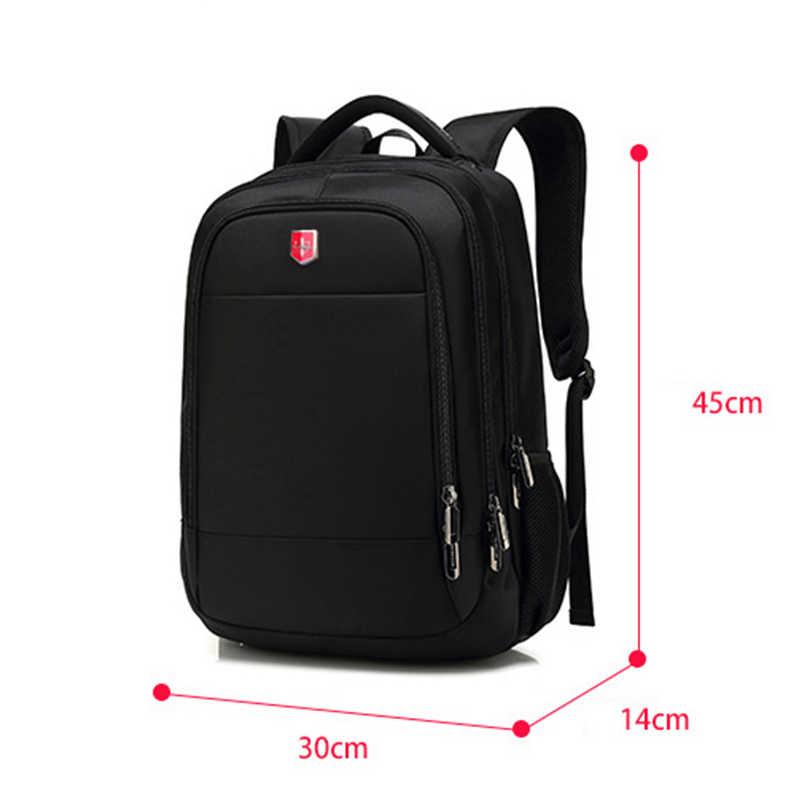 a9836f88a Brand 15.6 inch Laptop Business Backpack Men Waterproof USB Charging Travel  Backpacks 2019 Black Oxford Casual Schoolbag Mochila