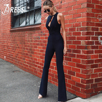 INDRESSME 2019 New Hollow Out O Neck Sexy Women Fashion Tank Sleeveless Long Length Pants Jumpsuit Club Party