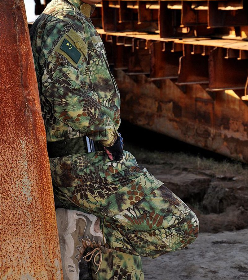 Kryptek Typhon Camo BDU Field Uniform Camouflage Set Shirt Pants Mens Tactical Hunting Uniform