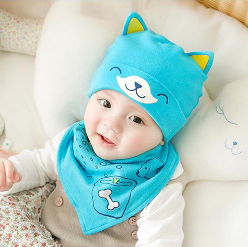 Active Hpbbkd Newborn Baby Hat Set 2pcs/lot Infant Caps Cotton Baby Beanies Baby Girls Boys Hat Bib Kids Scarf Baby Hat Scarf Set Gh613 To Win Warm Praise From Customers Accessories