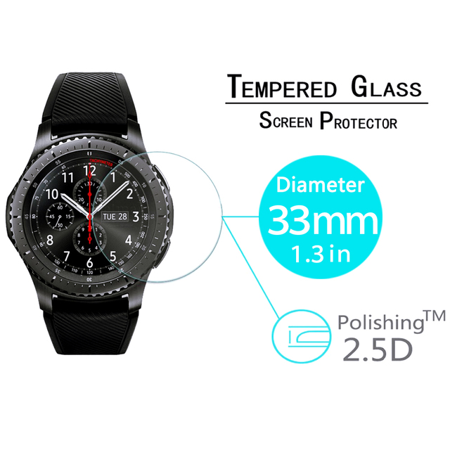 Закаленное Стекло для Samsung Шестерни S3 классический Frontier LTE смарт-браслет Для мужчин Wonmen LED объектив Экран протектор Плёнки Интимные аксессуары