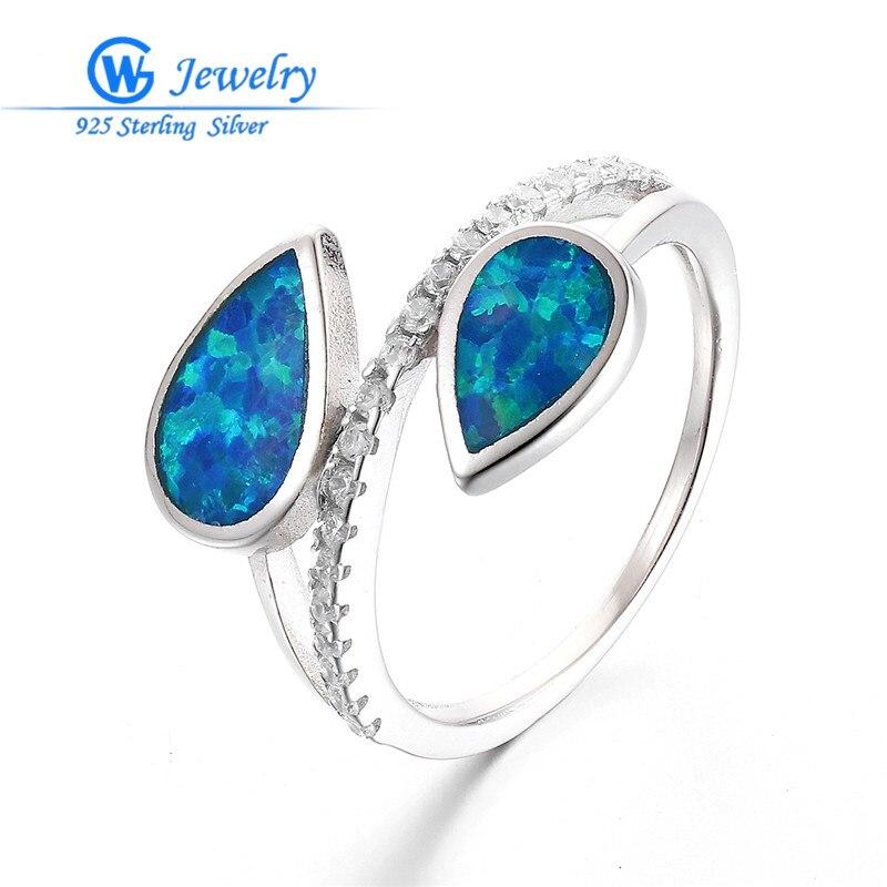 2016 Fashion Blue Fire Opal Ring GW Fashion Jewelry
