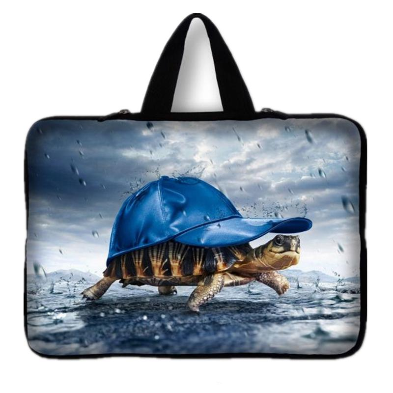 Soft tortoise Print Notebook Sleeve Case Bag + Handle For 15 15.6 Macbook Pro HP Dell Sony Neoprene Laptop computer bags#10