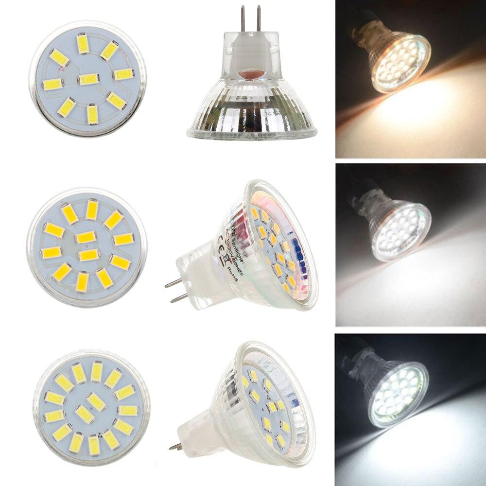 Светодиодная лампа MR11 AC/DC12V 24V GU4 120LM 240LM Светодиодная лампа 9LED 12LED 15LED 5730 SMD Теплая/холодная/Нейтральная белая лампа замена галогенная лампа