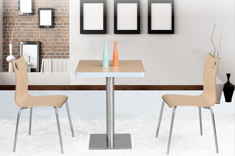 Wholesale Dining Table Set Wood Modern Stainless Steel For Restaurant Chair