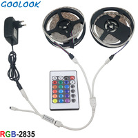 Светодиодный полосы света 2835 SMD, Светодиодная лента 5 м 10 м 3528 гибкий домашний установленный RGB лампа лента + 24key контроллер + светодиодный лен...