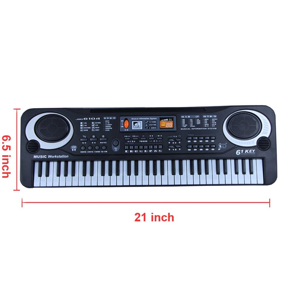 Instrument de musique jouet clavier électronique Portable orgue électrique Piano cadeau pour bébés enfants avec Microphone et câble USB - 6