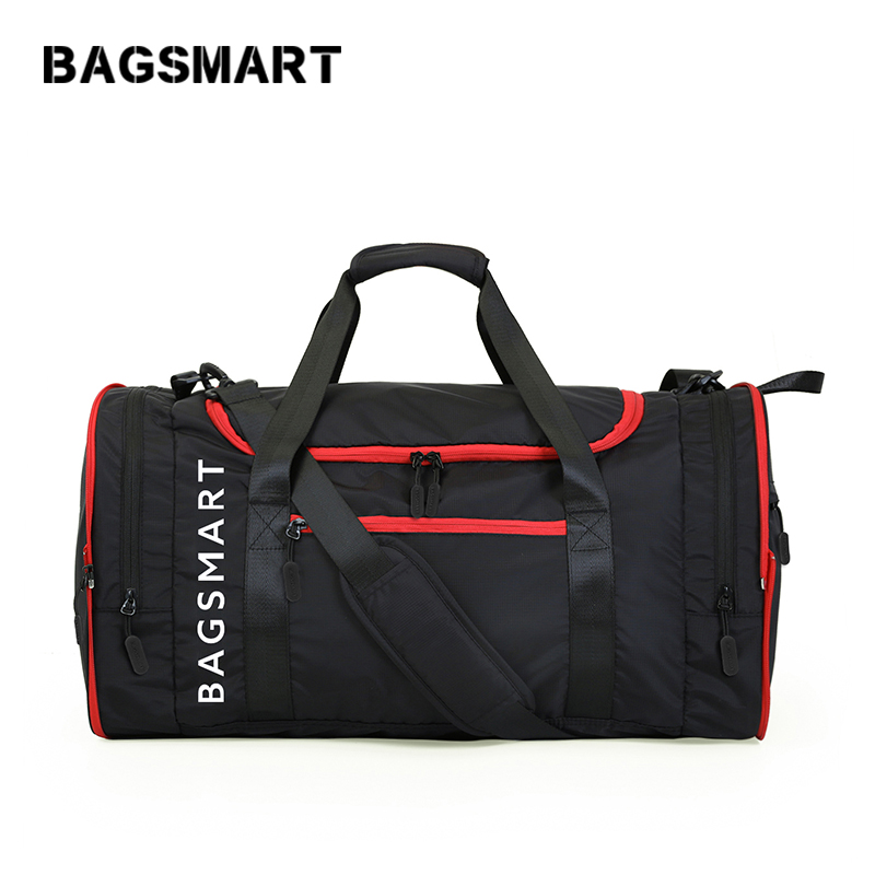 Многофункциональные дорожные сумки BAGSMART Водонепроницаемая нейлоновая дорожная сумка большой емкости